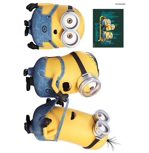 Official Minions Wall Stickers Relax Amp Fight Buy Online On