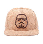STAR WARS Unisex Embroidered Stormtrooper Silhouette Snapback Baseball Cap, One Size, Tan/Cork
