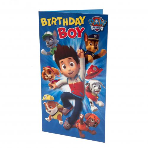 Official Paw Patrol Birthday Card Boy Buy Online On Offer