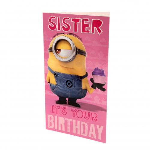 Despicable Me Minion Birthday Card Sister