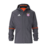 2016-2017 Bayern Munich Adidas Rainjacket (Granite)