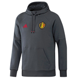 2016-2017 Belgium Adidas Hooded Sweat Top (Bold Onix)