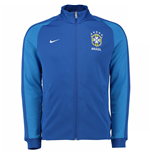 2016-2017 Brazil Nike Authentic N98 Track Jacket (Blue)