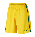 2016-2017 Brazil Nike Home Shorts (Yellow) - Kids