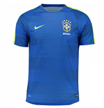 2016-2017 Brazil Nike Pre-Match Training Shirt (Blue)