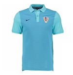 2016-2017 Croatia Nike Authentic Grand Slam Slim Polo Shirt (Blue)