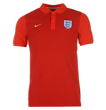 2016-2017 England Nike Authentic Grand Slam Slim Polo Shirt (Red)