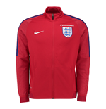 2016-2017 England Nike Authentic Revolution Knit Track Jacket (Red)