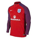 2016-2017 England Nike Authentic Strike Drill Top (Red)