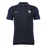 2016-2017 France Nike Authentic GS Slim Polo Shirt (Navy)