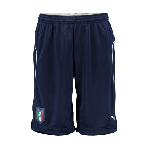 2016-2017 Italy Puma Training Shorts (Navy) - Kids