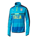 2016-2017 Italy Puma Quarter Zip Training Top (Blue) - Kids