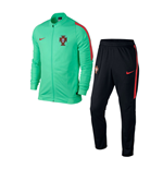 2016-2017 Portugal Nike Revolution Knit Tracksuit (Green Glow)