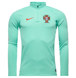 2016-2017 Portugal Nike Drill Top (Green Glow)