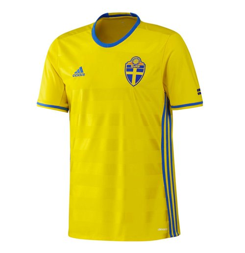 713dae6d53b Buy Official 2016-2017 Sweden Home Adidas Football Shirt
