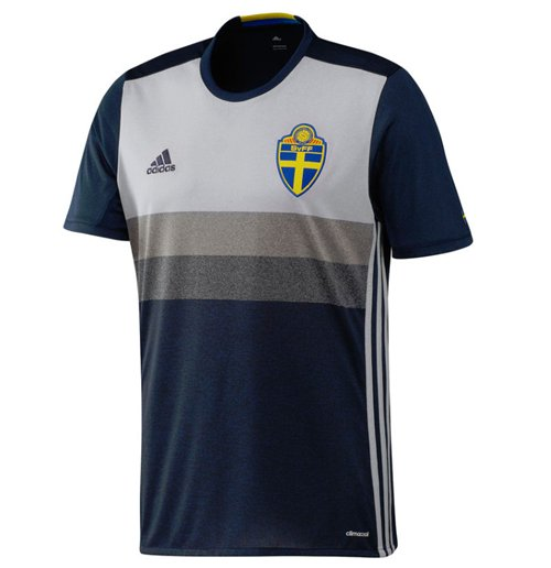 2016-2017 Sweden Away Adidas Football Shirt (Kids)