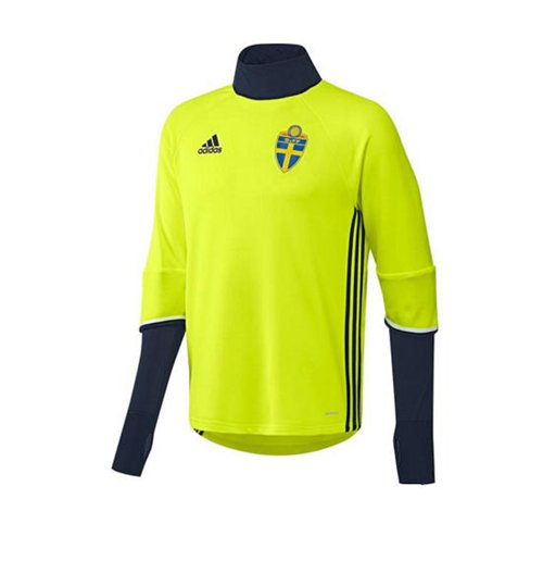 2016-2017 Sweden Adidas Training Top (Yellow)