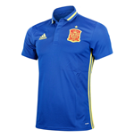 2016-2017 Spain Adidas Climalite Polo Shirt (Blue)