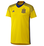 2016-2017 Spain Away Adidas Goalkeeper Shirt (Yellow)