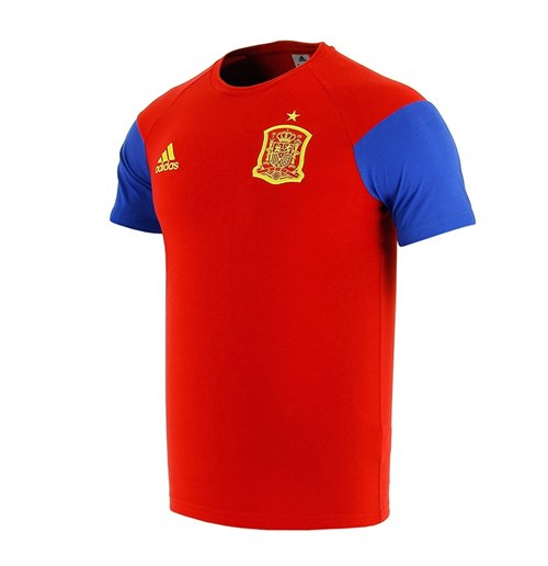 2016-2017 Spain Adidas Training Tee (Red)