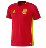 2016-2017 Spain Adidas Training Jersey (Red)