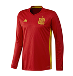 2016-2017 Spain Home Adidas Long Sleeve Shirt