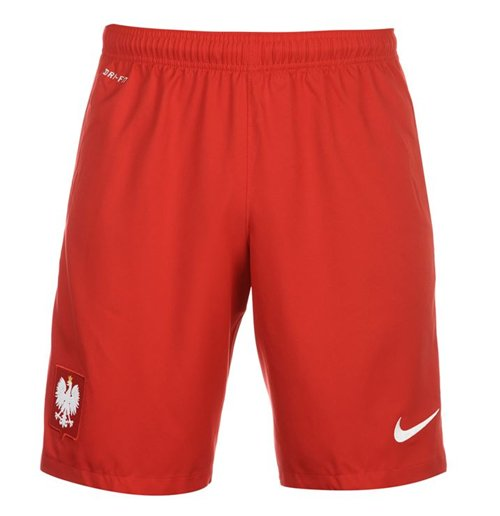 Poland 2017: Official 2016-2017 Poland Nike Home Shorts (Red): Buy