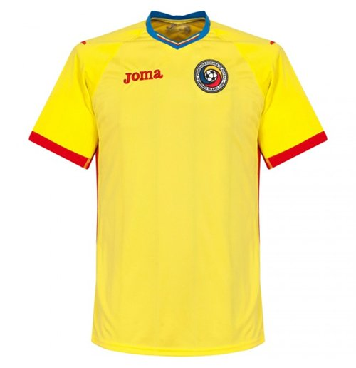 2016-2017 Romania Home Joma Football Shirt