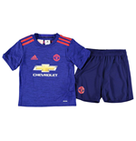 2016-2017 Man Utd Adidas Away Little Boys Mini Kit