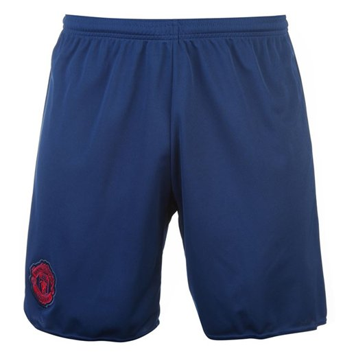 2016-2017 Man Utd Adidas Away Shorts (Blue)