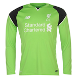 2016-2017 Liverpool Home Long Sleeve Goalkeeper Shirt (Kids)