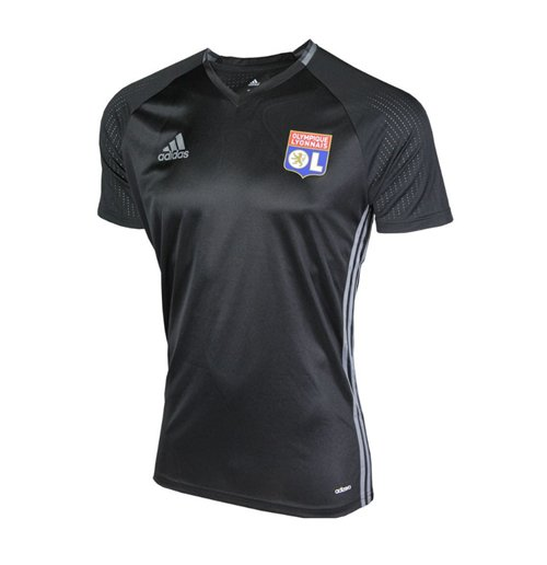 half off bb4eb 756c4 2016-2017 Olympique Lyon Adidas Training Shirt (Black)