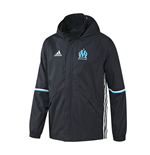 2016-2017 Marseille Adidas Rain Jacket (Night Navy)