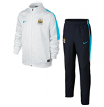 2015-2016 Man City Nike Woven Tracksuit (White) - Kids