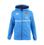 2016-2017 England Rugby Cotton Full Zip Hoody (Vivid Blue) - Kids