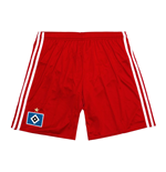 2016-2017 Hamburg Adidas Home Shorts (Red)