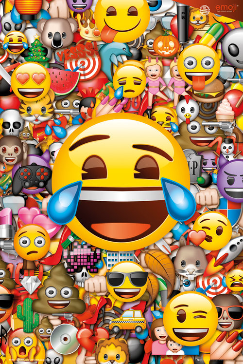 Emoji Collage Maxi Poster