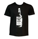 JIM BEAM Men's Black Bottle Tee Shirt