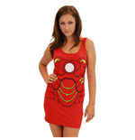 Women's IRON MAN Cotton/Spandex Tank Dress