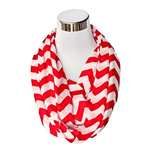 Red And White Flask Scarf