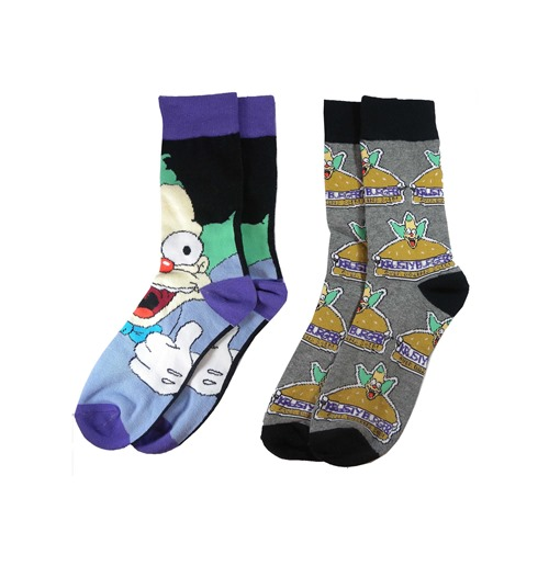 Official Krusty The Clown 2 Pack Socks Buy Online On Offer
