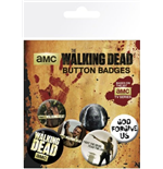 The Walking Dead Badge Pack