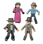 Back to the Future Minimates Action Figures 5 cm 30th Anniversary 1885 Box Set