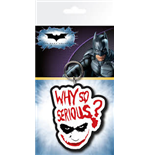 Batman The Dark Knight - Joker Serious Rubber Keychain