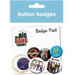 Big Bang Theory Badge Pack - Character Icons