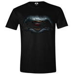 DC COMICS Batman vs Superman: Dawn of Justice Adult Male Logo T-Shirt, Small, Black