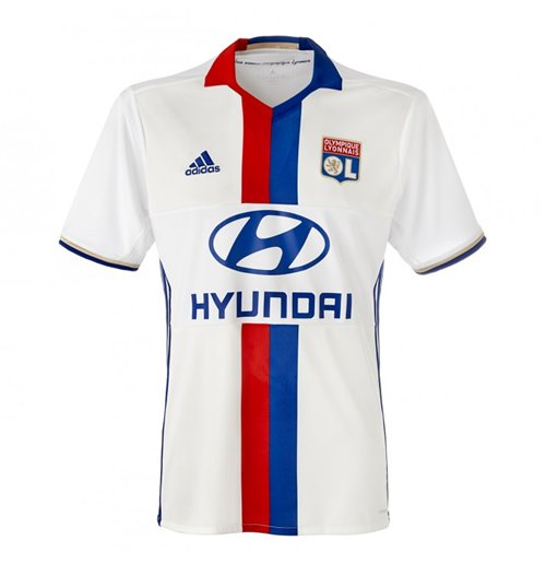 2016-2017 Olympique Lyon Adidas Home Football Shirt