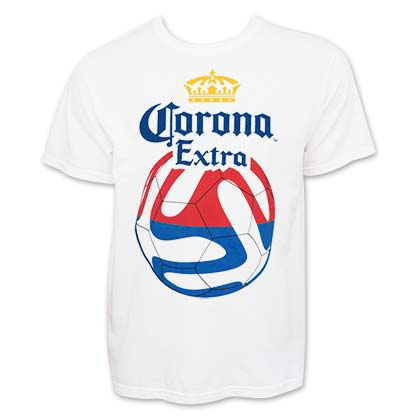 CORONA EXTRA Red And Blue Soccer Tee Shirt