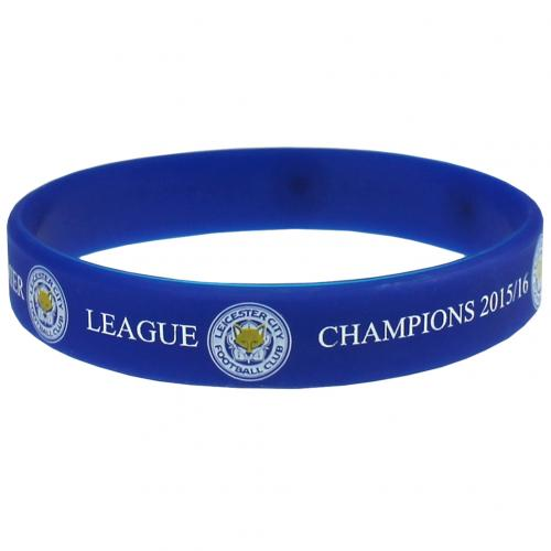 Leicester City F.C. Silicone Wristband Champions