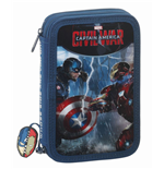 Captain America Civil War 34-Piece Pencil Case with content Cap vs. Iron Man 21 cm